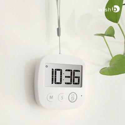 위시비 디지털 타이머 스탑워치 LED 알람 W100
