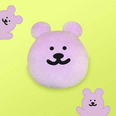 [한톨상점]반곰이 얼굴 쿠션(퍼플)