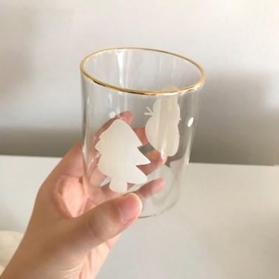 골드링겨울이야기유리컵