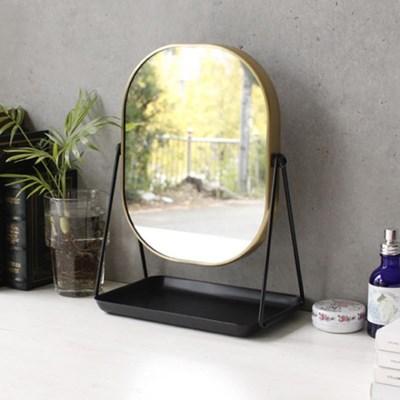 스탠드 사각 골드라인 거울 (5884)_(1824780)
