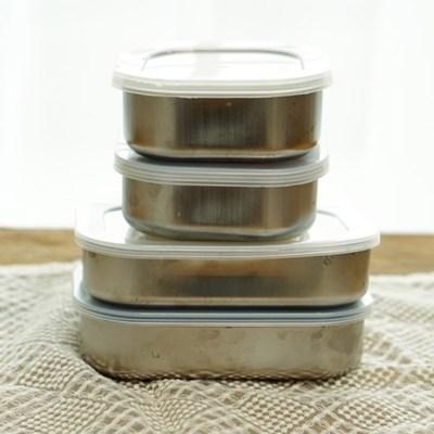 스텐 반찬통 밀폐용기 도시락통(2사이즈)