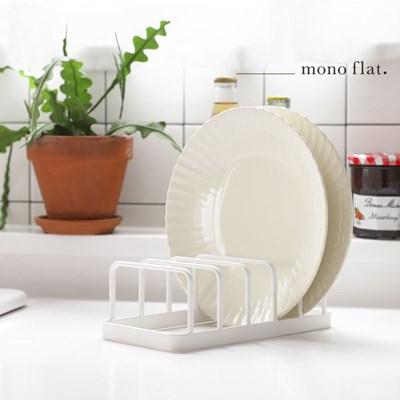 모노플랫 접시 정리대 1입 그릇 컵 정리 수납 선반_(12291677)