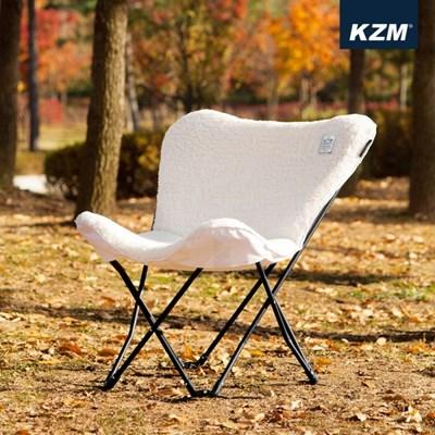 카즈미 크림체어 K20T1C004 / 감성 캠핑의자 동계 릴렉스체어