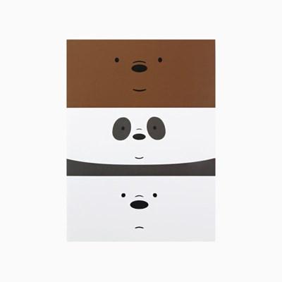 위 베어 베어스 얼굴 기본노트 - 삼둥이