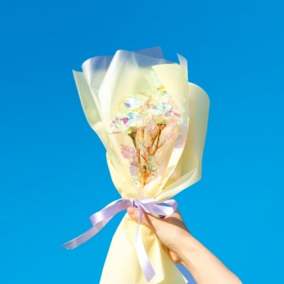 [SUNSET FLAMINGO] 홀로그램 꽃다발 장미 5구