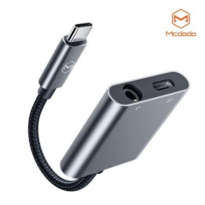 Mcdodo USB C to 3.5mm 오디오 AUX + C타입 충전 듀얼 젠더