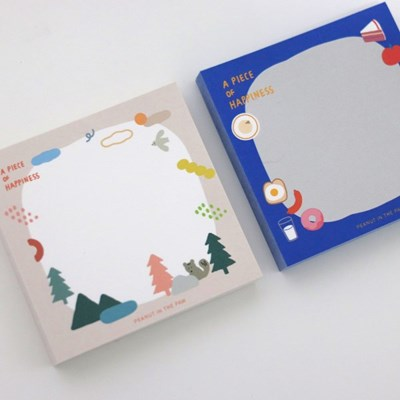 MEMO PAD. A PIECE OF HAPPINESS