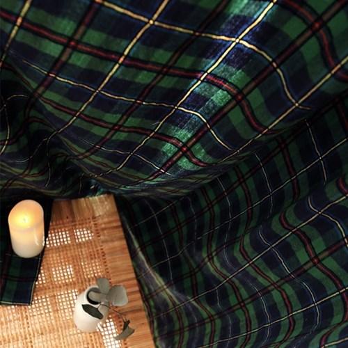 겨울이야기 빈티지 초록/레드체크 방한커튼