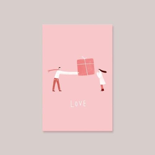 캘리엠 LOVE 캘리그라피 사랑카드