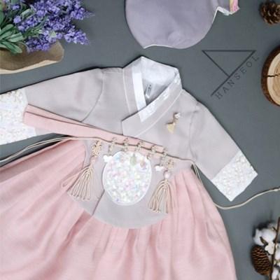한설한복1694.S 핑크 클래식 당의 여아 주니어한복