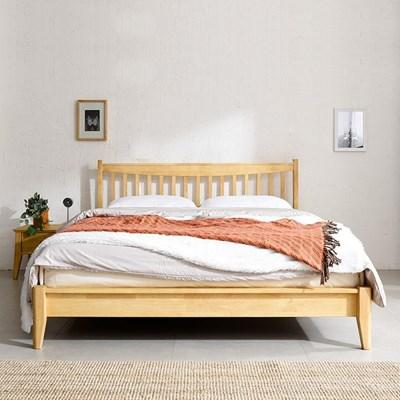 산들리빙 프리미엄 원목 퀸 침대 세트(매트포함)_(1587395)