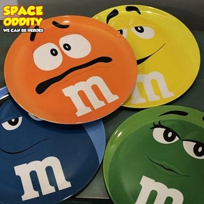 M&M 앰앤앰 캐릭터 접시 4P세트