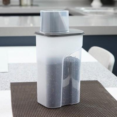 1+1 사각 곡물통 냉장고용기(중) 1500ml