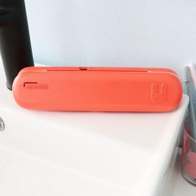 마이래빗 휴대용 칫솔살균기-코랄/AA건전지2개+USB케이블포함