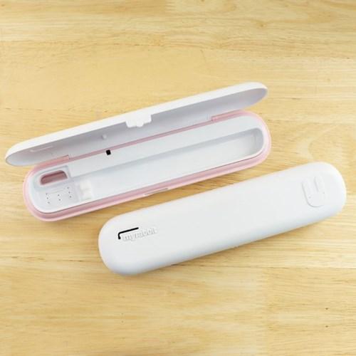 마이래빗 휴대용 칫솔살균기-핑크화이트/AA건전지2개+USB케이블포함
