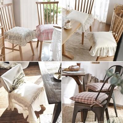 편안한 끈있는 식탁 의자 방석(솜포함) 의자등커버 의자커버
