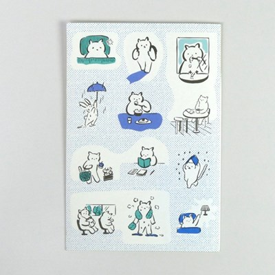 [스티커] 고양이의 조용한 하루 (2매입)