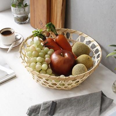 과일 대나무 바구니