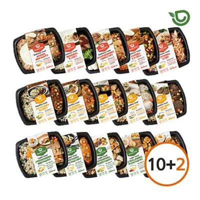 (10+2) 다즐샵 식단관리 도시락 15종 10팩+2팩