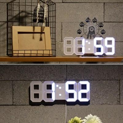미니 3D LED 벽시계 탁상시계 겸용