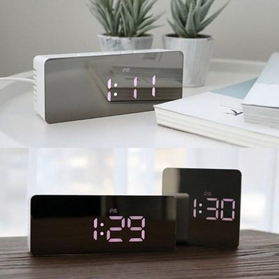 미러타입 LED 탁상시계