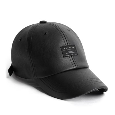 19F LEATHER BK BASIC CAP_BLACK