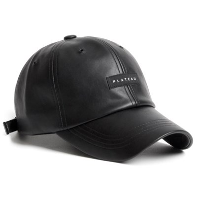 19F LEATHER BLACK LABEL CAP_BLACK