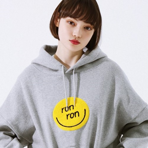SMILE BOUCLE HOODIE GRAY_(1317679)