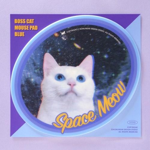 Boss Cat Mouse Pad_Blue