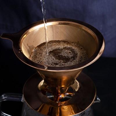 [칼딘] 로즈골드 티타늄 커피 드리퍼 드립퍼 TP01 1~3인용