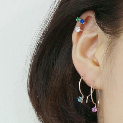 'D type' ear-cuff