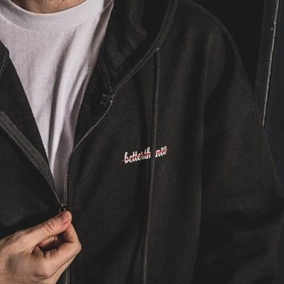 [베러댄88] 브로츠와프 오버핏 1020g 헤비원단 후드 집업 블랙
