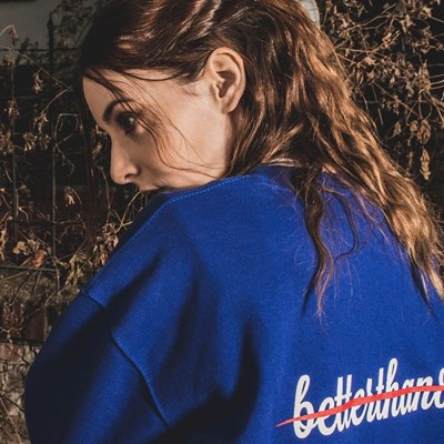 [베러댄88] 키들링턴 오버핏 675g 헤비원단 맨투맨 우먼 블루