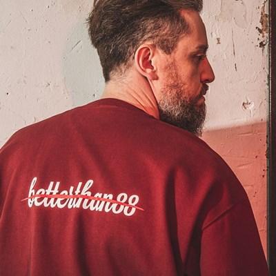 [베러댄88] 키들링턴 오버핏 675g 헤비원단 맨투맨 버건디