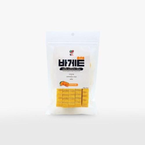 펫슐랭 유산균 바게트 단호박 120g/강아지 덴탈 바게뜨 애견껌
