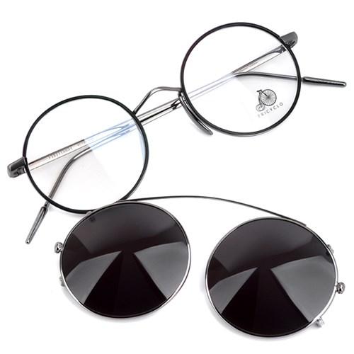 트리시클로 티타늄 렌즈 안경테 선글라스 TRITI503-02-SGMCL-BKZ(47)