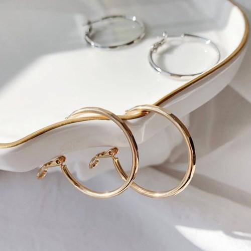컷팅 링 귀걸이_cutting ring earring(2color)
