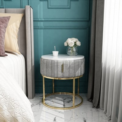 아파트32 홈 골드 철제 마블 드레스 침대 협탁/ 서랍형 사이드테이블