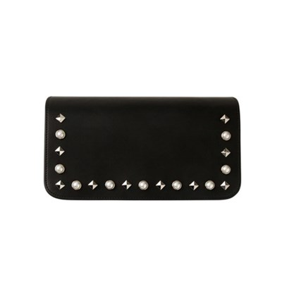 Pearl Stud Flap[진주찡] _ Black