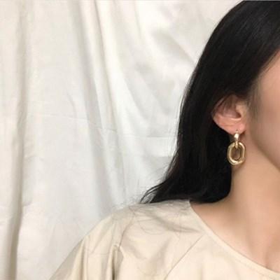 여자 2단 알러지방지 무니켈침 이어링 귀걸이