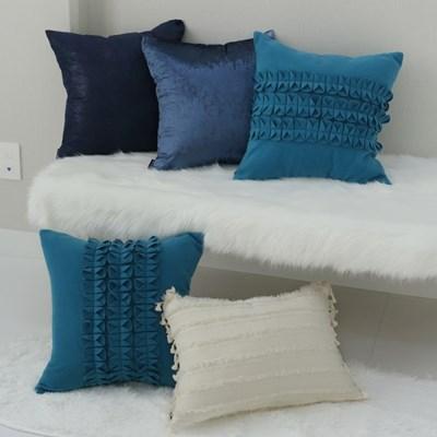 블루&베이지 쿠션커버-4style