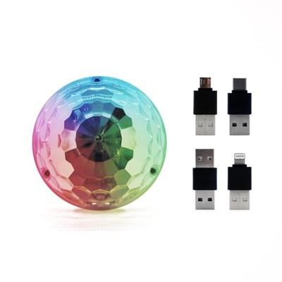 미러볼 가정용 싸이키 조명 LED 미니+젠더3P 리빙블리