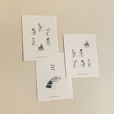 musician postcard set