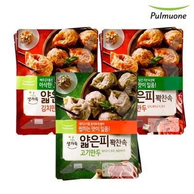 [풀무원]얇은피꽉찬속 김치만두 4봉+고기만두 2봉(총6봉)(각 440g)