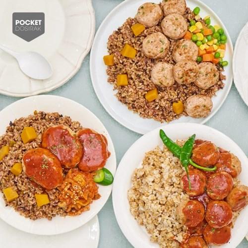 낮은 칼로리 포켓도시락 점심대용식 세트 (12종 12팩)