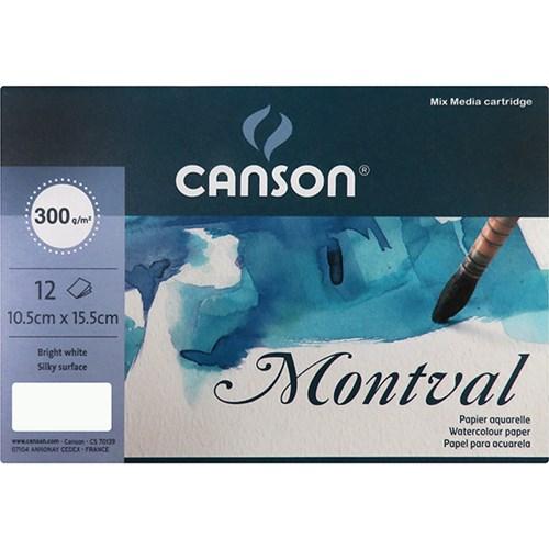 CANSON 엽서팩 몽발(12매 300g 수채화용 CACP-MONT 10.5_(14360060)