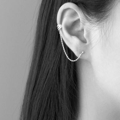 (92.5 silver) string line earcuff