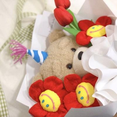 19곰 생일 테드 인형 꽃다발