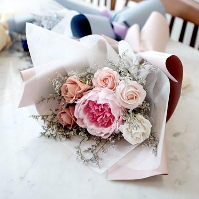 로맨틱핑크 작약&장미 비누꽃다발