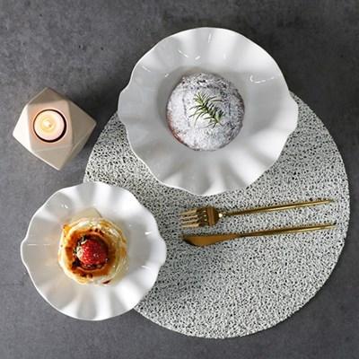 아망 화이트 카페 접시 4size 선택1p